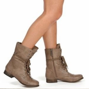 Steve Madden Troopa Distressed Combat Boots
